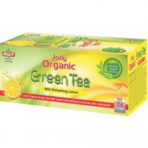 JOLLY ORGANIC GREEN TEA WITH REFRESHING LEMON - 24 TEA BAGS